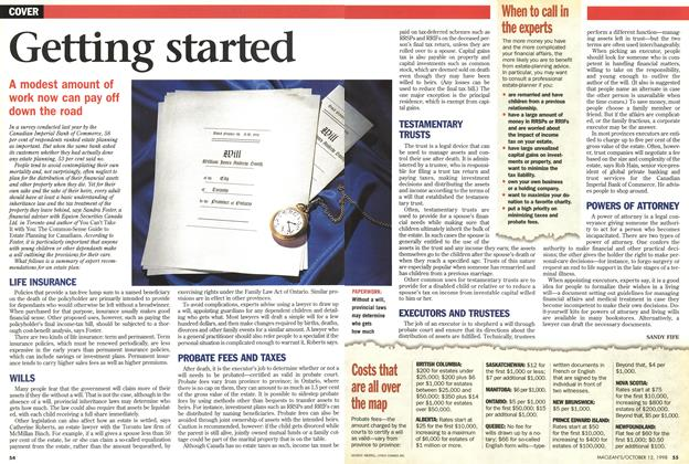 Article Preview: Getting started, October 1998 | Maclean's