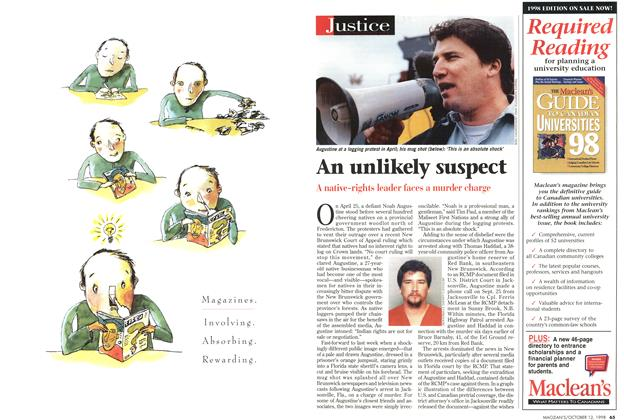 Article Preview: An unlikely suspect, October 1998 | Maclean's