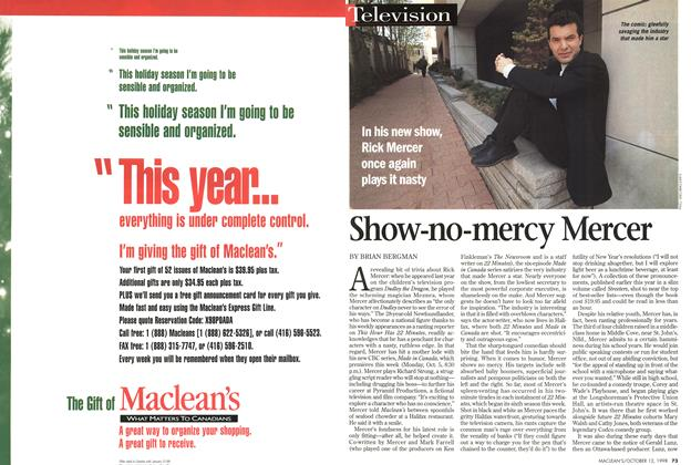 Article Preview: Show-no-mercy Mercer, October 1998 | Maclean's
