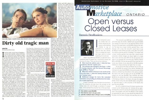 Article Preview: Dirty old tragic man, October 1998 | Maclean's