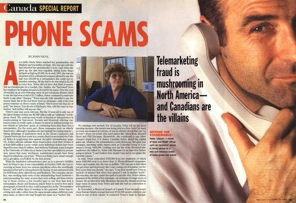 Article Preview: PHONE SCAMS, October 1998 | Maclean's
