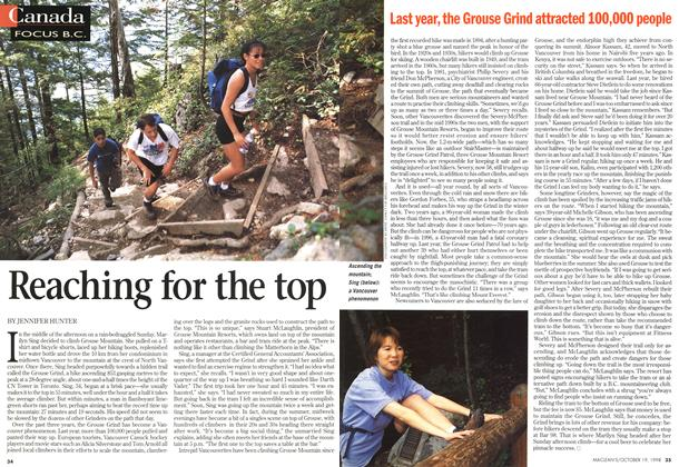 Article Preview: Reaching for the top, October 1998 | Maclean's