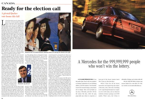Article Preview: Ready for the election call, October 1998 | Maclean's