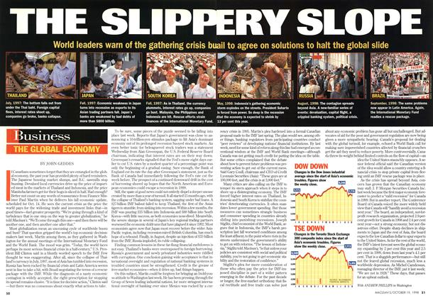 Article Preview: THE SLIPPERY SLOPE, October 1998 | Maclean's
