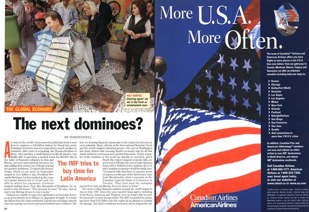 Article Preview: The next dominoes?, October 1998 | Maclean's