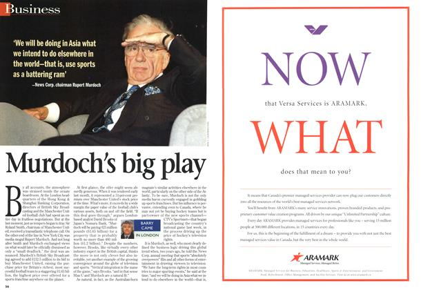 Article Preview: Murdoch's big play, October 1998 | Maclean's