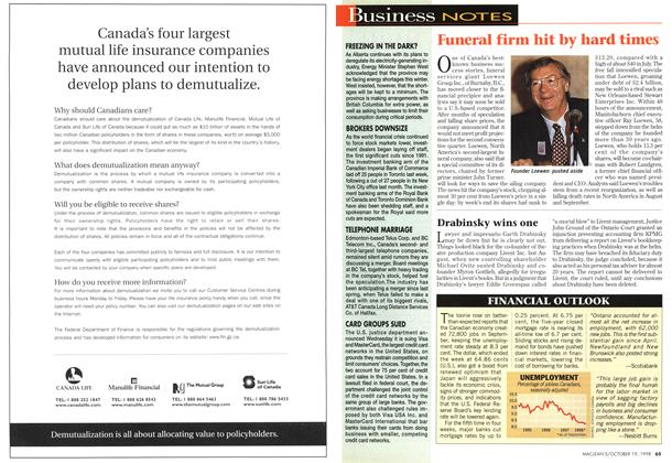 Article Preview: Business NOTES, October 1998 | Maclean's