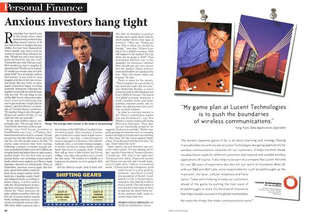 Article Preview: Anxious investors hang tight, October 1998 | Maclean's