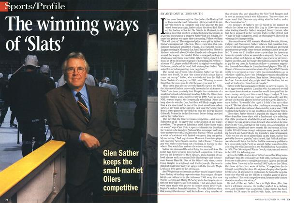 Article Preview: The winning ways of 'Slats', October 1998 | Maclean's