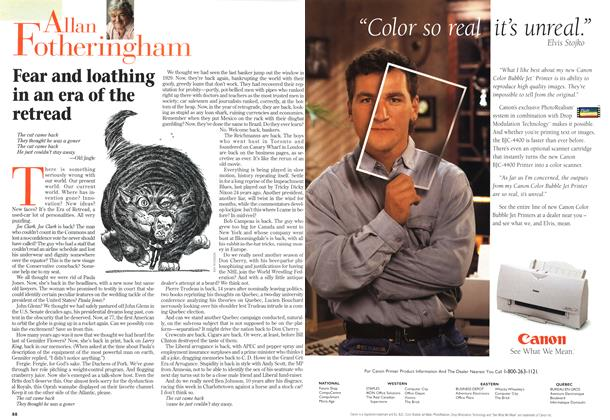 Article Preview: Fear and loathing in an era of the retread, October 1998 | Maclean's