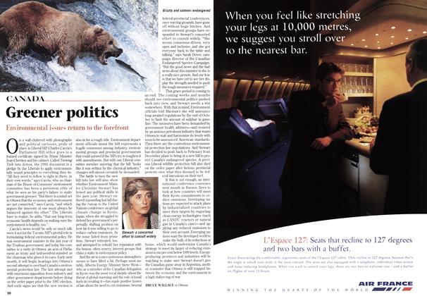 Article Preview: Greener politics, October 1998 | Maclean's