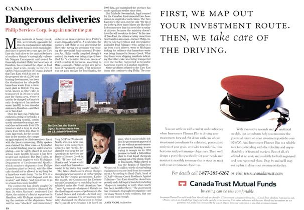 Article Preview: Dangerous deliveries, October 1998 | Maclean's