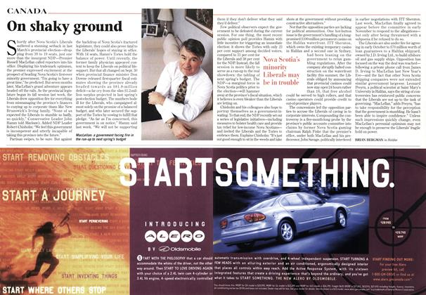 Article Preview: On shaky ground, October 1998 | Maclean's