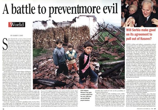 Article Preview: A battle to prevent more evil, October 1998 | Maclean's