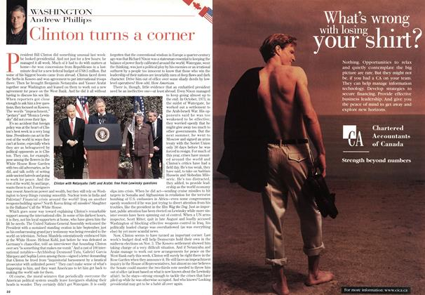 Article Preview: Clinton turns a corner, October 1998 | Maclean's