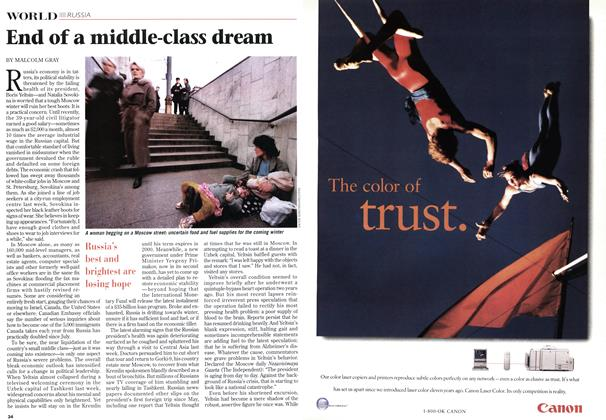 Article Preview: End of a middle-class dream, October 1998 | Maclean's