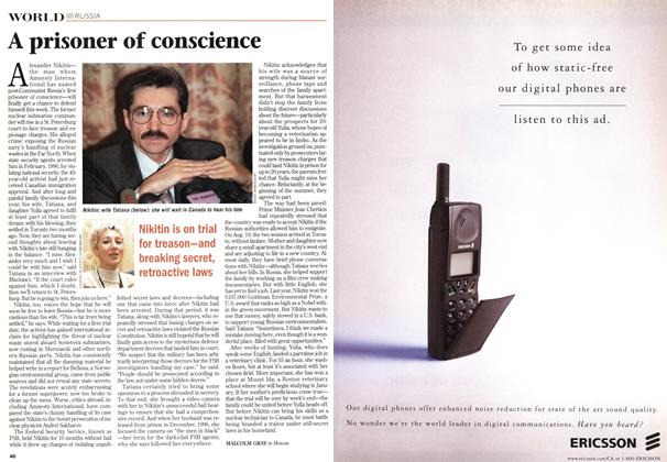 Article Preview: A prisoner of conscience, October 1998 | Maclean's