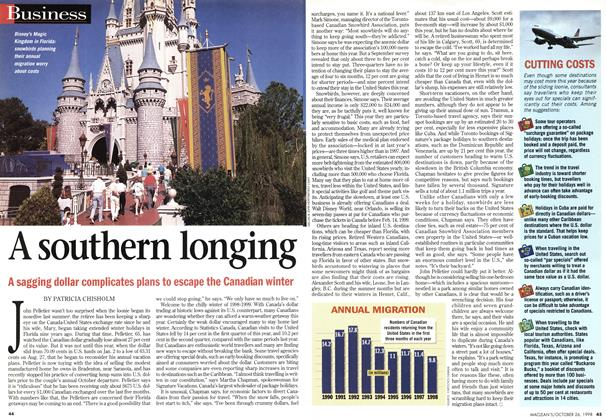 Article Preview: A southern longing, October 1998 | Maclean's