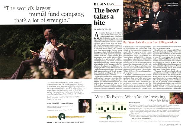 Article Preview: The bear takes a bite, October 1998 | Maclean's