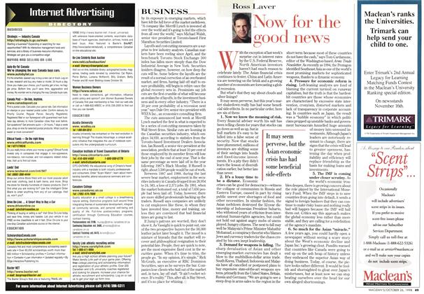 Article Preview: Now for the good news, October 1998 | Maclean's