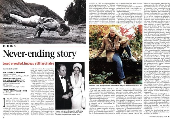 Article Preview: Never-ending story, October 1998 | Maclean's