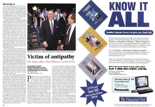 Article Preview: Victim of antipathy, October 1998 | Maclean's
