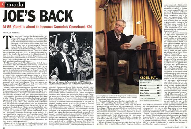 Article Preview: JOE'S BACK, November 1998 | Maclean's