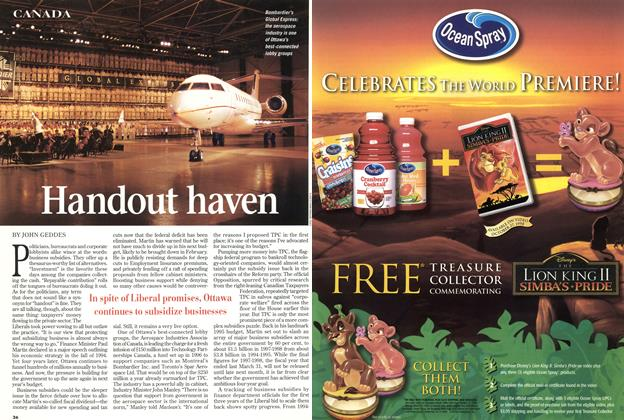 Article Preview: Handout haven, November 1998 | Maclean's