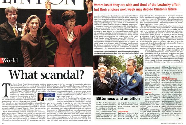 Article Preview: What scandal?, November 1998 | Maclean's
