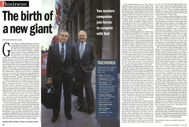 Article Preview: The birth of a new giant, November 1998 | Maclean's