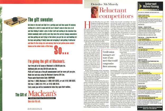 Article Preview: Reluctant competitors, November 1998 | Maclean's