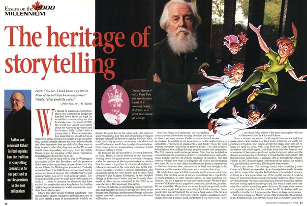 Article Preview: The heritage of storytelling, November 1998 | Maclean's