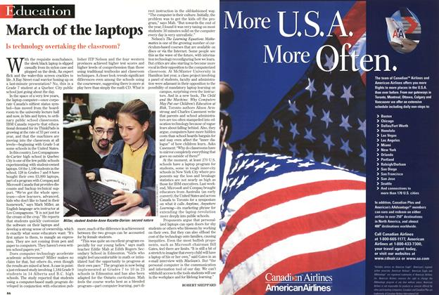 Article Preview: March of the laptops, November 1998 | Maclean's