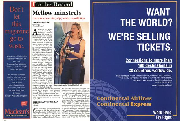 Article Preview: Mellow minstrels, November 1998 | Maclean's