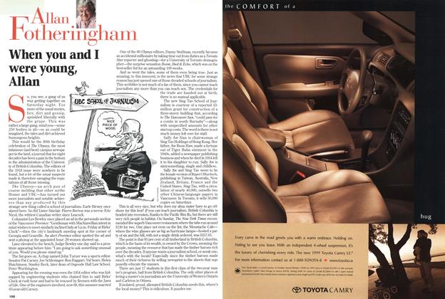 Article Preview: When you and I were young, Allan, November 1998 | Maclean's