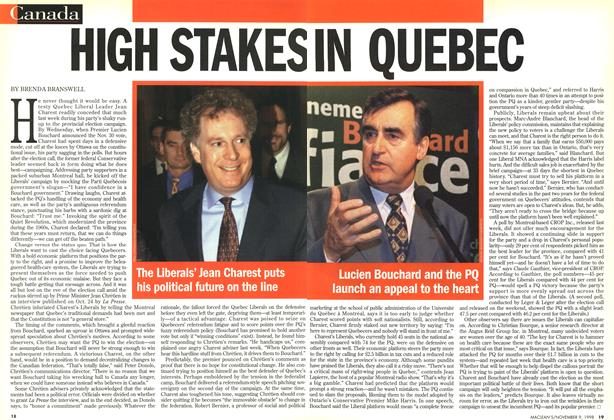 Article Preview: HIGH STAKES QUEBEC, November 1998 | Maclean's