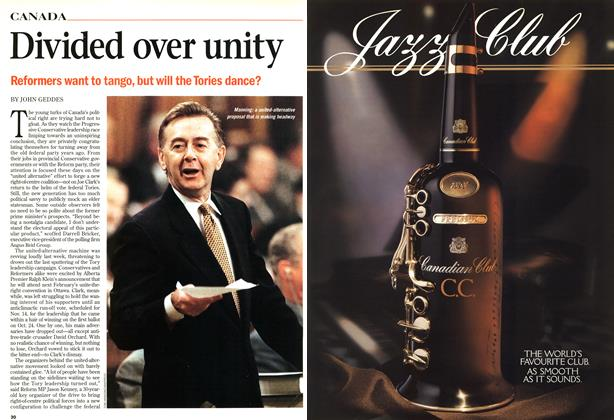 Article Preview: Divided over unity, November 1998 | Maclean's