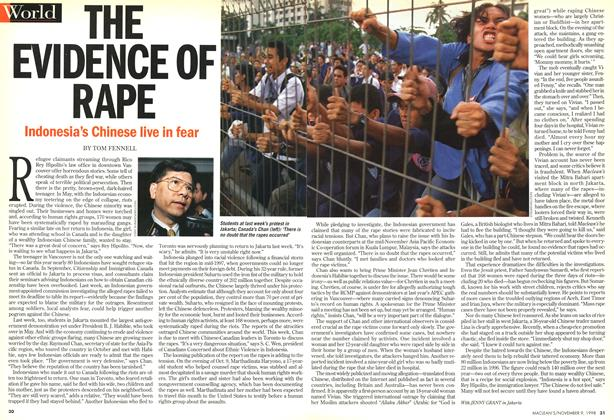 Article Preview: THE EVIDENCE OF RAPE, November 1998 | Maclean's