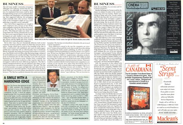 Article Preview: A SMILE WITH A HARDENED EDGE, November 1998 | Maclean's