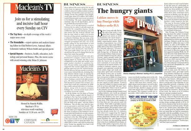 Article Preview: The hungry giants, November 1998 | Maclean's