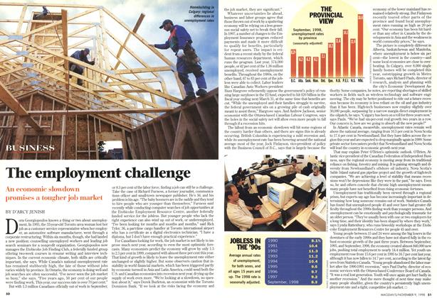 Article Preview: The employment challenge, November 1998 | Maclean's