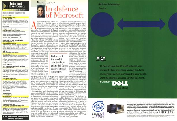 Article Preview: In defence of Microsoft, November 1998 | Maclean's
