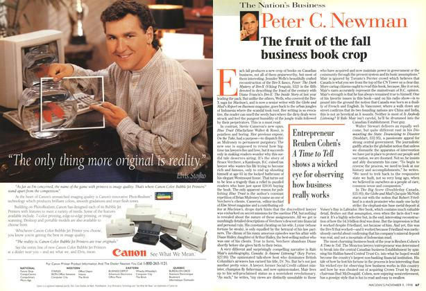 Article Preview: The fruit of the fall business book crop, November 1998 | Maclean's