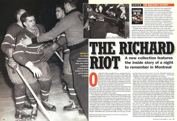 Article Preview: THE RICHARD RIOT, November 1998 | Maclean's