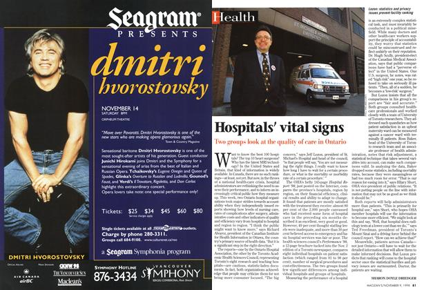 Article Preview: Hospitals' vital signs, November 1998 | Maclean's