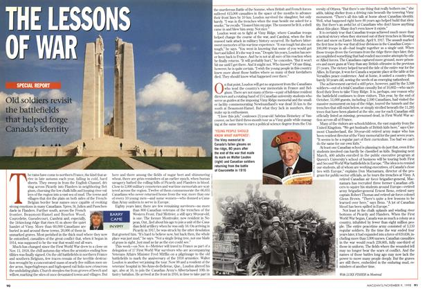 Article Preview: THE LESSONS OF WAR, November 1998 | Maclean's
