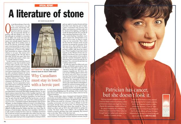 Article Preview: A literature of stone, November 1998 | Maclean's