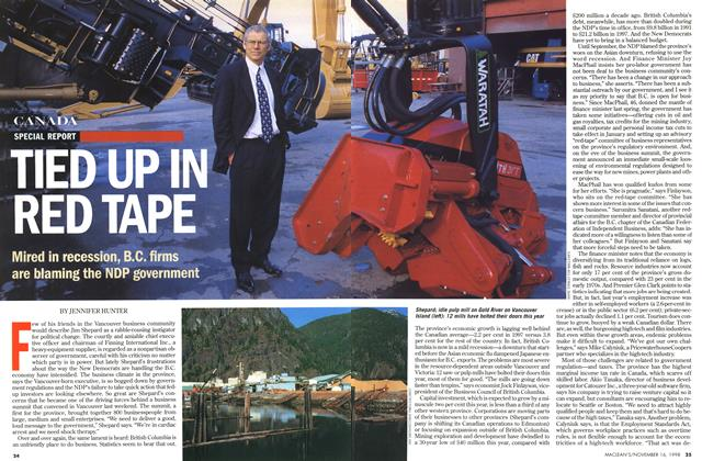Article Preview: TIED UP IN RED TAPE, November 1998 | Maclean's