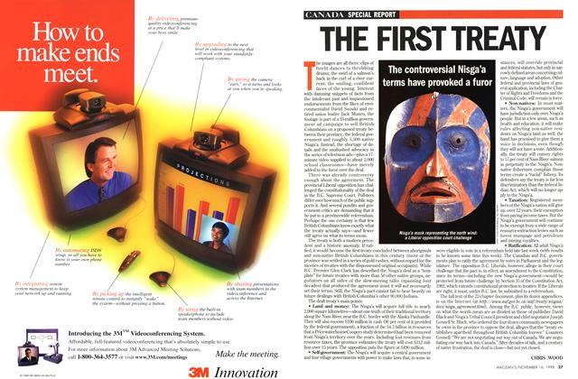 Article Preview: THE FIRST TREATY, November 1998 | Maclean's