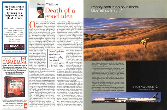 Article Preview: Death of a good idea, November 1998 | Maclean's